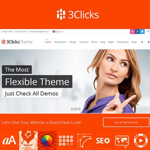 3Clicks Responsive Multi Purpose WordPress Theme
