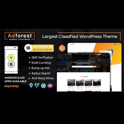 AdForest Classified Ads WordPress Theme
