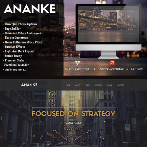 Ananke One Page Parallax WordPress Theme