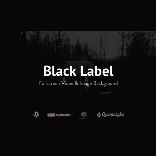 Black Label Fullscreen Video Image Background