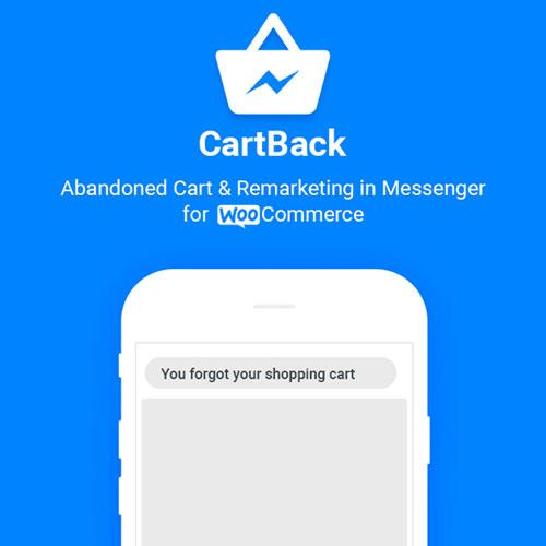 CartBack WooCommerce Abandoned Cart Remarketing in Facebook Messenger