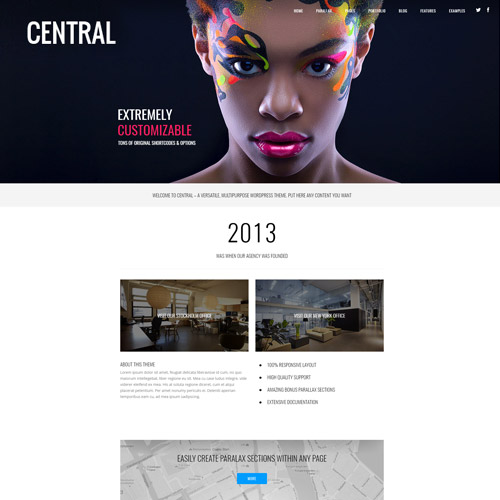 Central Versatile Multi Purpose WordPress Theme