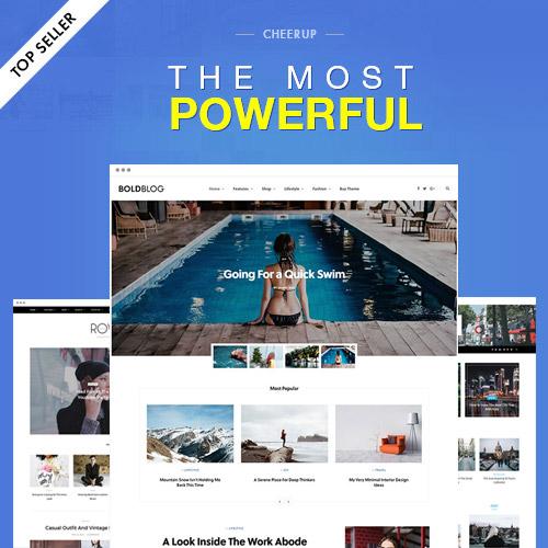CheerUp Blog Magazine WordPress Blog Theme