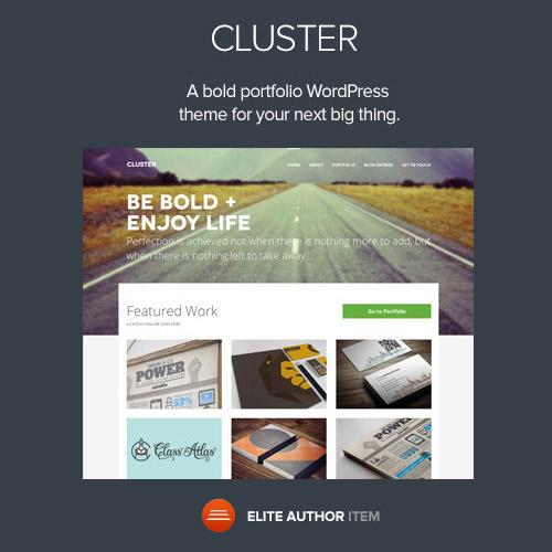 Cluster A Bold Portfolio Wordpress Theme