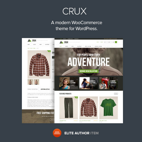 Crux A modern and lightweight WooCommerce theme