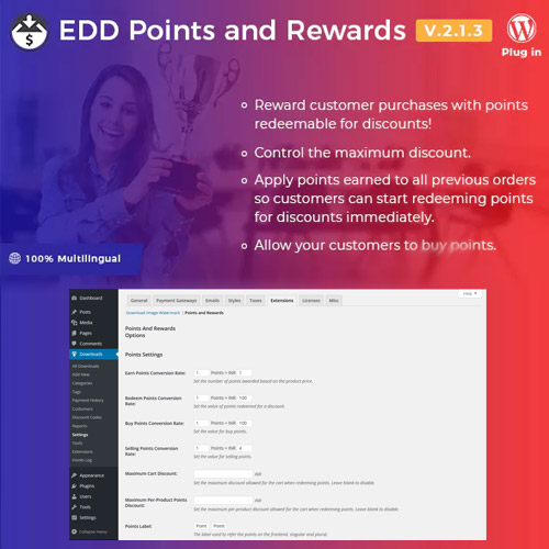 Easy Digital Downloads Points and Rewards
