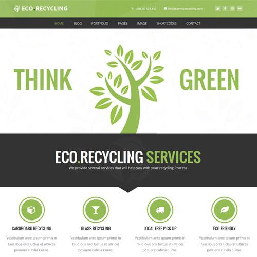 Eco Recycling Ecology Nature WordPress Theme