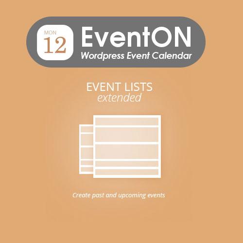 EventOn Event Lists