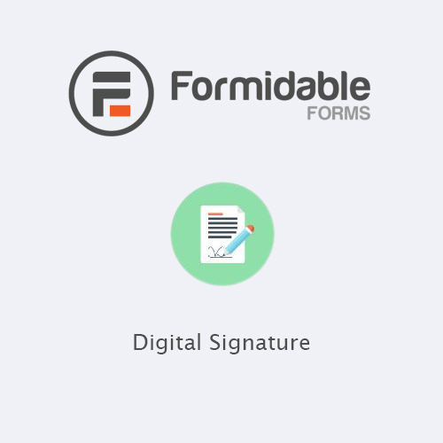 Formidable Forms Digital Signature