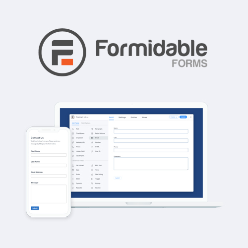 Formidable Forms Pro WordPress Form Builder Plugin