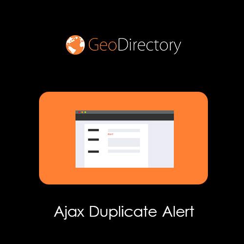 GeoDirectory Ajax Duplicate Alert