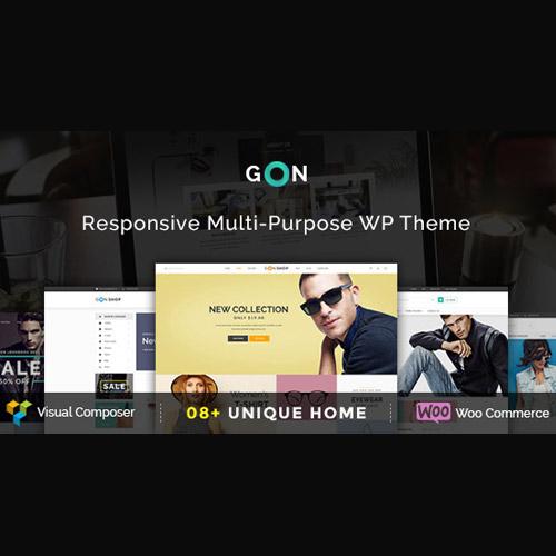 Gon Responsive Multi Purpose WordPress Theme