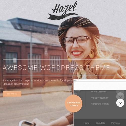Hazel Multi Concept Creative WordPress Theme