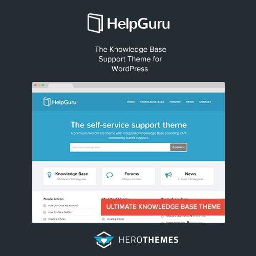 HelpGuru A Self Service Knowledge Base WordPress Theme