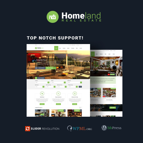 Homeland Responsive Real Estate Theme for WordPress