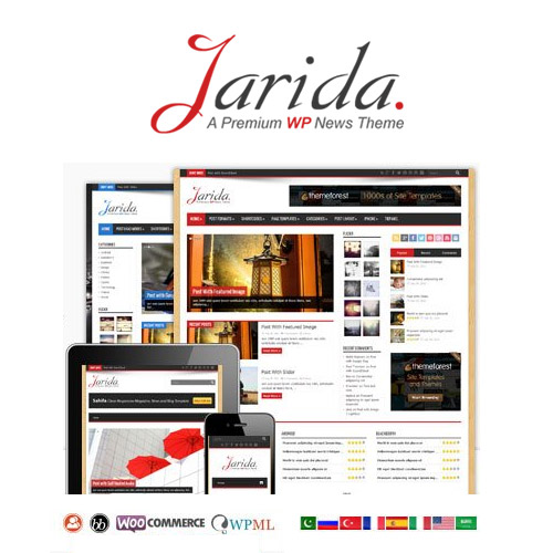Jarida Responsive WordPress News Magazine Blog 1