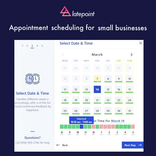 LatePoint Appointment Booking Reservation plugin for WordPress