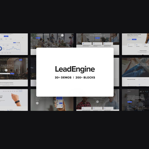 LeadEngine Multi Purpose WordPress Theme with Page Builder
