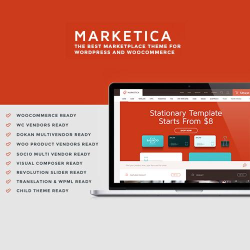 Marketica eCommerce and Marketplace WooCommerce WordPress Theme