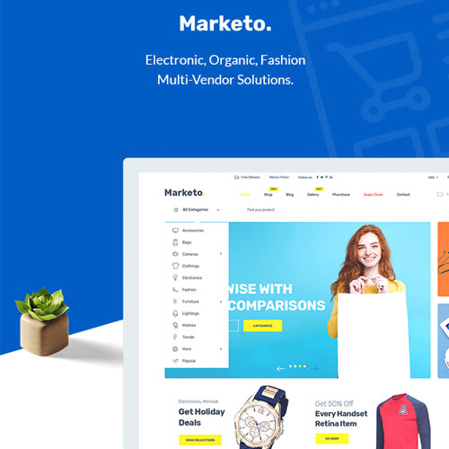 Marketo eCommerce Multivendor Marketplace Woocommerce WordPress Theme