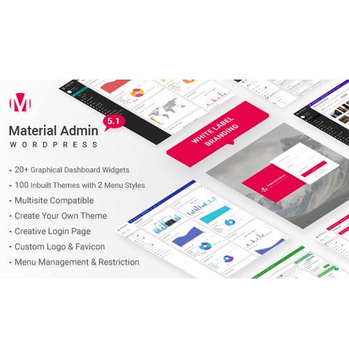 Material White Label WordPress Admin Theme