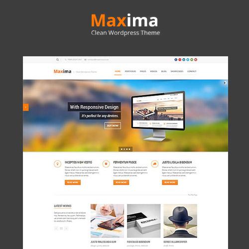 Maxima Retina Ready WordPress Theme