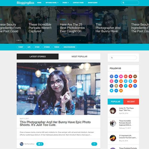 MyThemeShop Blogging Box WordPress Theme