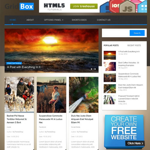 MyThemeShop Gridbox WordPress Theme