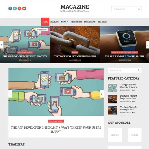 MyThemeShop Magazine WordPress Theme