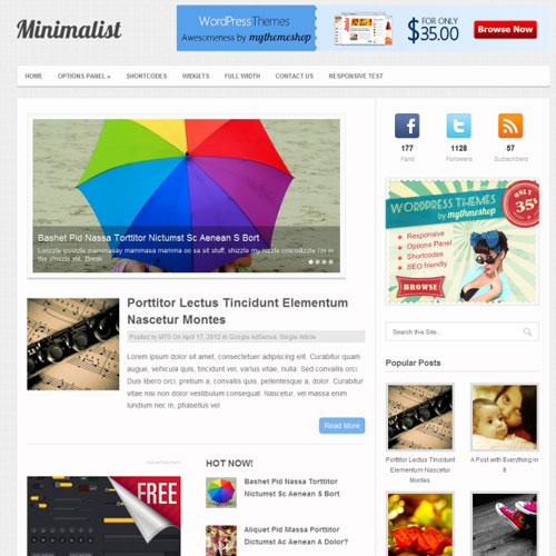 MyThemeShop Minimalist WordPress Theme