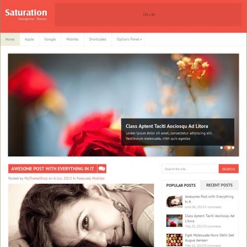 MyThemeShop Saturation WordPress Theme