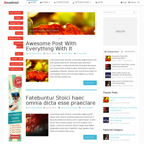 MyThemeShop Sensational WordPress Theme