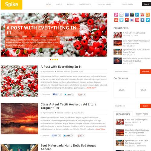 MyThemeShop Spike WordPress Theme