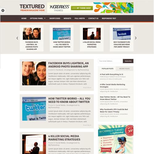 MyThemeShop Textured WordPress Theme