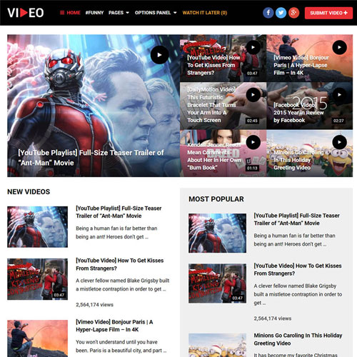 MyThemeShop Video WordPress Theme