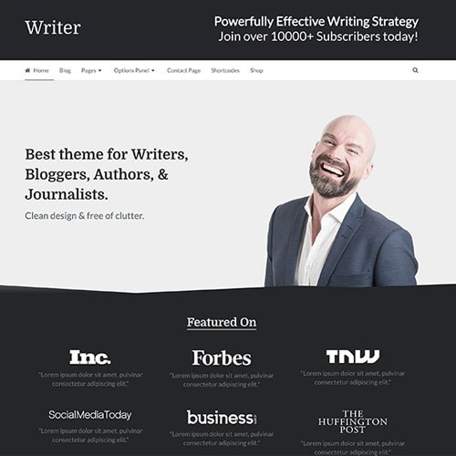 MyThemeShop Writer WordPress Theme