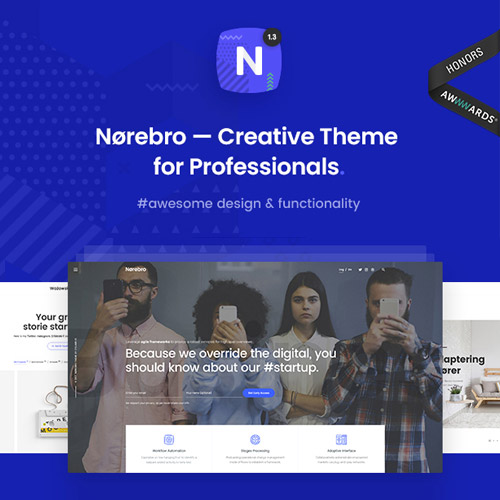 Norebro Creative Portfolio Theme for Multipurpose Usage