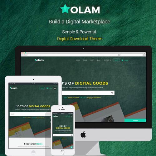 Olam WordPress Easy Digital Downloads Theme Digital Marketplace Bookings