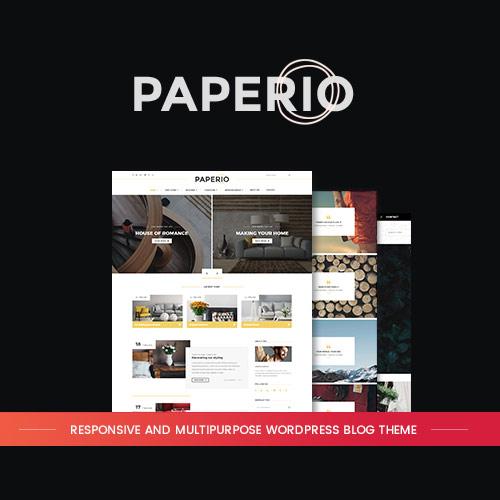 Paperio Responsive and Multipurpose WordPress Blog Theme