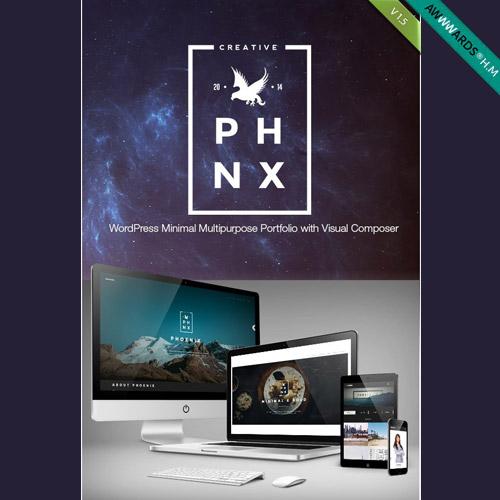 Phoenix WordPress Minimal Multipurpose Portfolio with Visual Composer