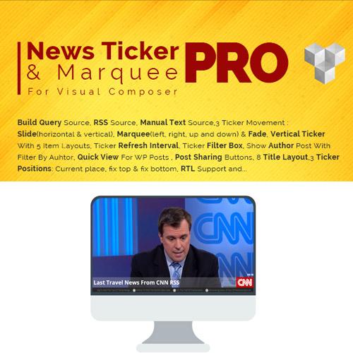 Pro News Ticker Marquee