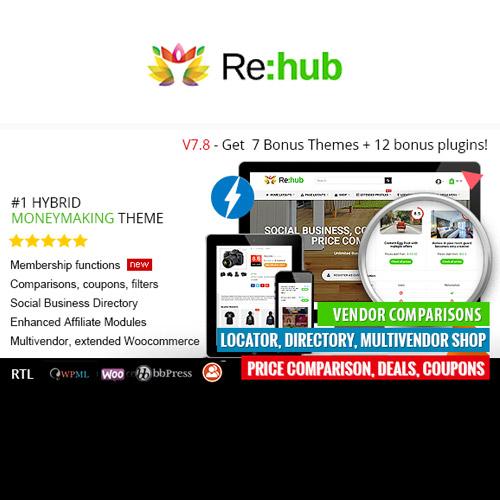 REHub Price Comparison Affiliate Marketing Multi Vendor Store Community Theme