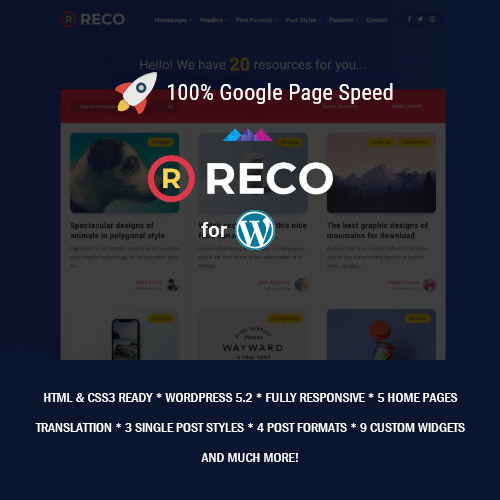 Reco Minimal Theme for Freebies