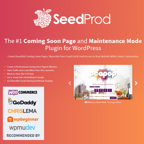 SeedProd Coming Soon Pro WordPress Coming Soon Pages Maintenance Mode