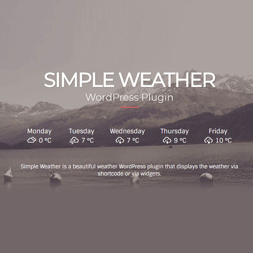 Simple Weather Plugin