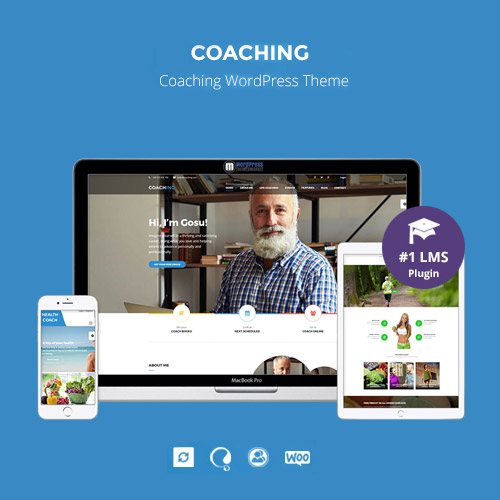 Speaker and Life Coach WordPress Theme Coaching WP