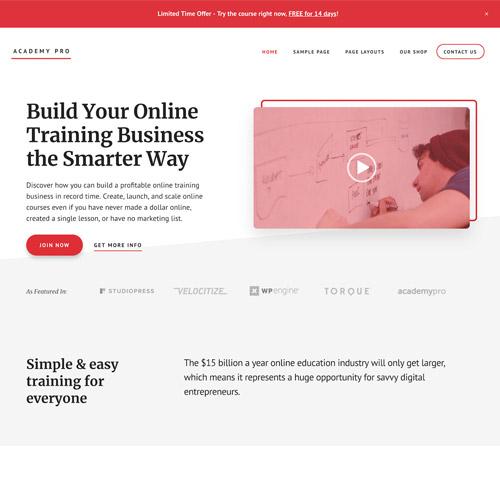 StudioPress Academy Pro Genesis WordPress Theme