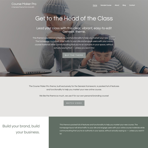 StudioPress Course Maker Pro Genesis WordPress Theme
