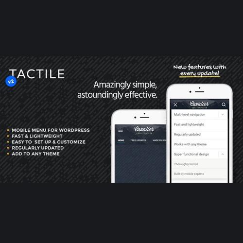 Tactile WordPress Mobile Menu