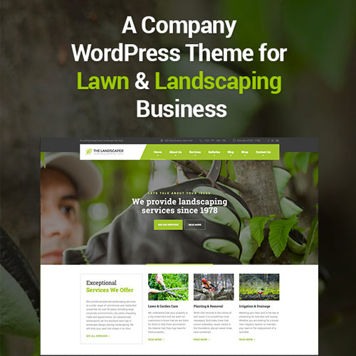 The Landscaper Lawn Landscaping WP Theme